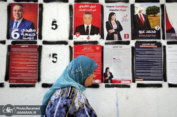 عکس/ کاندیداتوری از پشت میله های زندان