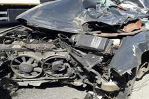 تصادف در آزاد راه کرج- قزوین 4 مصدوم بر جا گذاشت