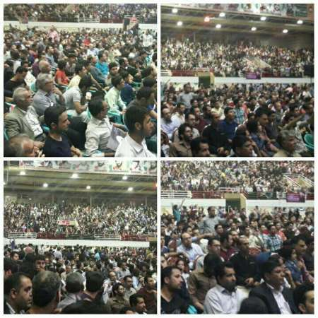 جشن پیروزی انتخاب دکتر روحانی در سمنان برگزار شد