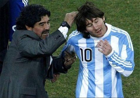 اظهار نظر عجیب مارادونا درباره مسی