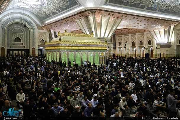 مراسم شب بیست و سوم ماه رمضان در حرم امام برگزار شد