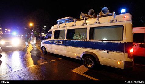 آمبولانسی پر از مواد منفجره در نزدیکی ورزشگاه هانوفر+ تصویر