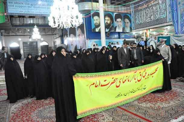 ادای احترام اعضای مرکز امور زنان و خانواده نهاد ریاست جمهوری  به مقام امام راحل