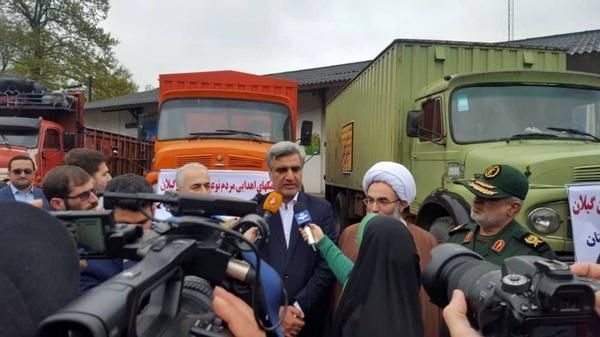 ارسال ۱۰۰ تن کالا به ارزش ۱۰ میلیارد ریال به مناطق سیلزده گلستان  گیلان آماده کمک به سیلزدگان استانهای شمالی است