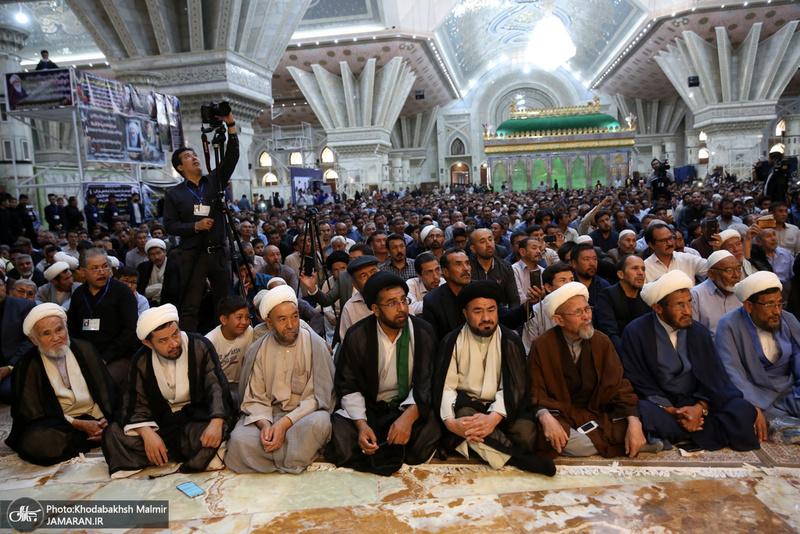 مراسم بزرگداشت ارتحال آیت الله العظمی محقق کابلی در حرم امام خمینی (س)