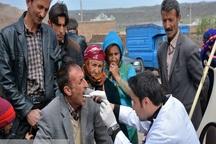 3 تیم پزشکی به مناطق محروم مهاباد اعزام شدند