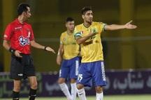 بازیکن تیم فوتبال نفت آبادان یک جلسه محروم شد