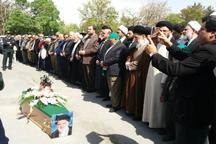 پیکر امام جمعه آبیک تشییع شد