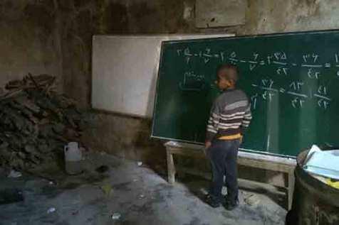 دانش آموزانی که در سیاه چال درس می خوانند