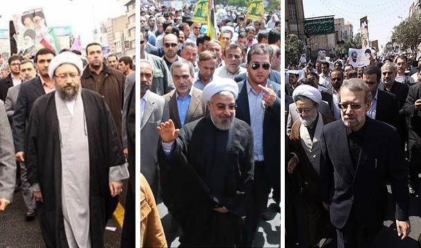تاکید روسای سه قوه بر ایستادگی برای آزاد سازی فلسطین