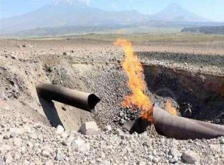 مهار آتش سوزی در خط لوله اتیلن غرب