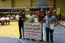 پاورلیفتینگ کاران اردبیلی در مسابقات کشوری سه مقام کسب کردند