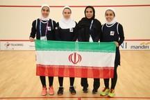 اولین برد تیمی اسکواش بانوان ایران در تاریخ بازیهای آسیایی