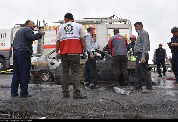 یکی از مصدومین حادثه انفجار خط لوله گاز اهواز درگذشت