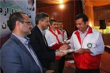 تجلیل اعضای جوان جمعیت هلال احمر بوشهر در طرح نوروزی