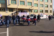 مانور «مدرسه ایمن و جامعه تاب آور» در مدارس شهرستان ری برگزار شد