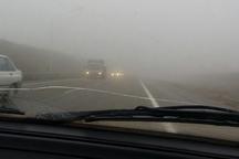 جاده های زنجان لغزنده و مه آلود است