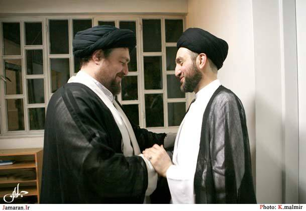 دیدار صمیمانه  عمار حکیم و سید حسن خمینی در جماران