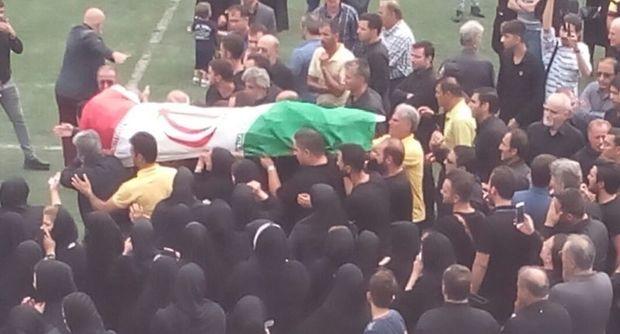 پیکر بازیکن گیلانی تیم ملی فوتبال در رشت تشییع شد