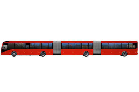 ولوو بزرگترین اتوبوس جهان را میسازد