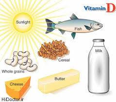 عوارض کمبود ویتامین D /منابع تامین ویتامین مهم