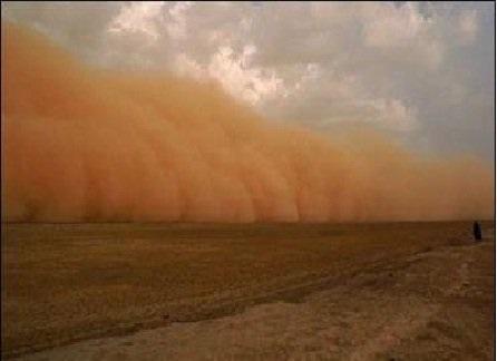 گرد و غبار عراق در راه ایران