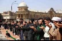 نماز ظهر اربعین در همدان اقامه شد
