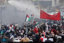 درگیری شدید مقابل سفارت آمریکا در بیروت+ تصاویر
