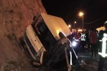 تصادف مینی بوس با سواری در محور بجنورد- شیروان 23 مصدوم داشت