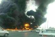 راننده پیکان در آتش خودرو سوخت