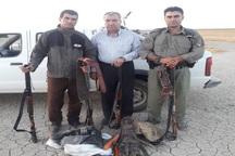 4 شکارچی متخلف در مهاباد دستگیر شدند