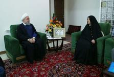 دیدار رئیسجمهور با خانواده معظم شهیدان ملاعباسی و قاسم چنانی جانباز 70 درصد دفاع مقدس