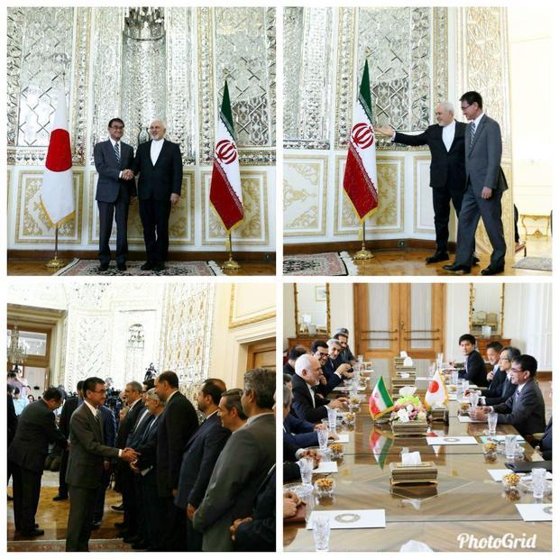 دیدار وزرای امور خارجه ایران و ژاپن ساعاتی پیش از ورود آبه شینزو