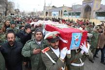 پیکر مطهر یک شهید در کرمانشاه تشییع شد