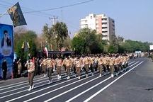 نمایش اقتدار نیروهای مسلح در خوزستان  رژه یگان های شمال خوزستان در دزفول