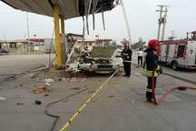 انفجار مخزن گاز خودرو در اهواز با 2 مصدوم