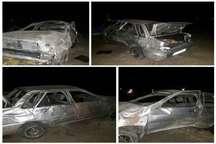واژگونی خودرو در خوروبیابانک 2 کشته برجا گذاشت