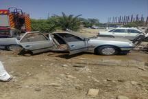 خودروی پژو به دلیل داشتن باک غیر استاندار در ایرانشهر منفجر شد