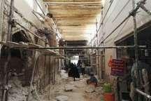 مرمت بازار قدیمی شاحمزه کازرون آغاز شد