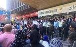 پیگیری برای آزادی دستگیرشدگان مقابل شهرداری تهران