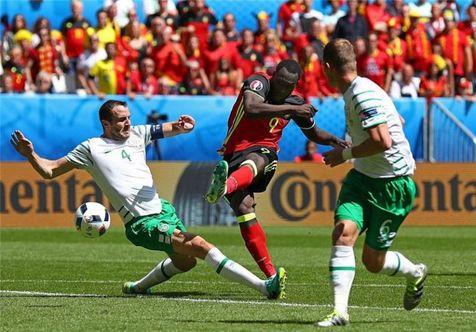 برتری بلژیک مقابل ایرلند به روایت تصویر