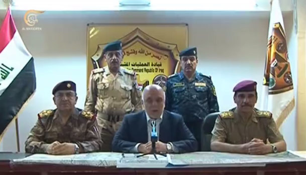فیلم/ نخست وزیر عراق آزادی فلوجه را اعلام کرد