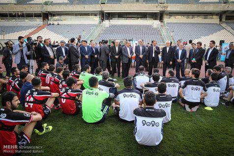 حسادت روزنامه قطری به حضور جهانگیری در تمرین تیم ملی فوتبال!