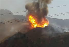 18 تن در آتش سوزی خط لوله پلی اتیلن پلدختر مصدوم شدند