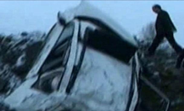 فیلم / حادثه تصادف وزیر بهداشت