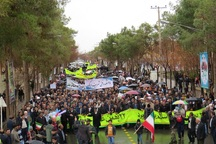 راهپیمایی 22 بهمن در ابرکوه حماسی و تماشایی بود