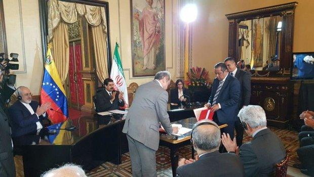 امضای یادداشت تفاهم همکاری بین بانک های مرکزی ایران و ونزوئلا