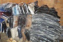 کشف پوشاک و لاستیک قاچاق در آستارا