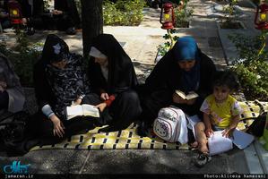 مراسم دعای عرفه در گلزار شهدای بهشت زهرا(س)