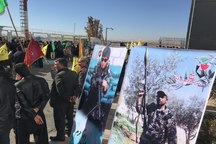 استقبال از شهید مدافع حرم در کرمان